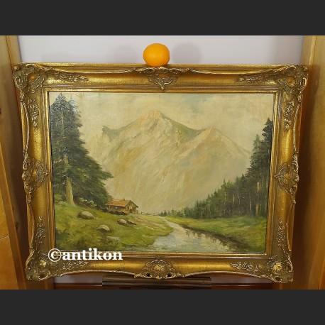 Pejzaż górski obraz olejny stary