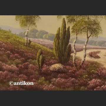 Obraz olejny Wrzosowisko olej do wiejskiego dworku