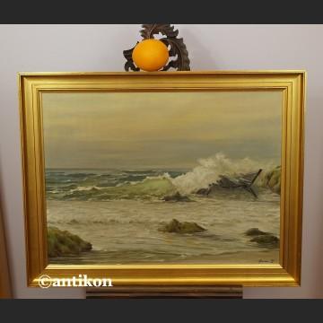 Obraz olejny Morze wzburzone piękne malarstwo