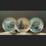 Żaglowce talerze Franklin Mint cała kolekcja z certyfikatem