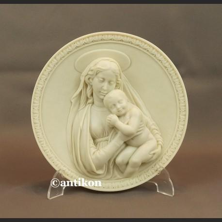 Madonna z dzieciątkiem Relief alabastrowy z Włoch
