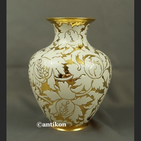 Wazon Rosenthal biało złoty antyczna porcelana