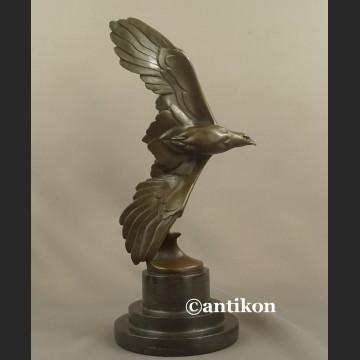 Art deco Rzeźba z brązu orzeł