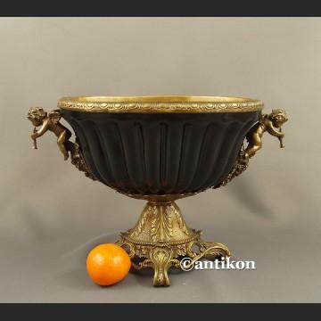 Czarna patera porcelanowa duża stylowa
