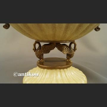Porcelanowa paterka do łakoci patera z butodziobami brązem