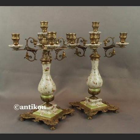Świecznik pałacowy barokowy kandelabr