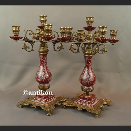 Świecznik pięcioramienny pałacowy kandelabr