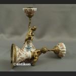 Świeczniki barokowe komplet piękny świecznik z amorkiem