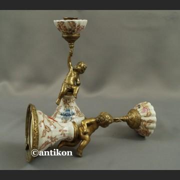 Świeczniki barokowe komplet piękny świecznik