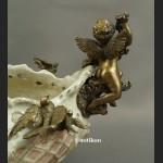 Żardiniera rokokowa patera z ptaszkami