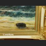 Obraz olejny potęga oceanu piękne malarstwo Rarytas