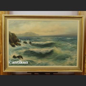 Obraz morze olejny piękne malarstwo marynistyczne