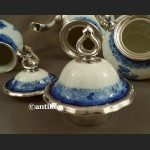 Serwis Rosenthal Chippendale kobaltowy okuty srebrem