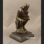 Rzeźba z brązu Myśliciel A. Rodin piękny duży posąg
