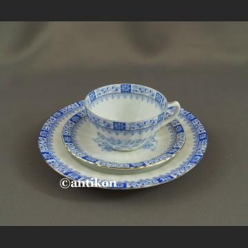 Trio China Blau bawarska porcelana zestaw śniadaniowy