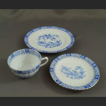 Trio China Blau bawarska porcelanazestaw śniadaniowy