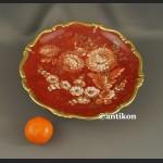 Patera Rosenthal Pompadour czerowno złota