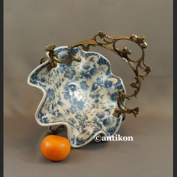 Patera wzór cebulowy koszyk porcelana z brązem