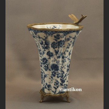 Wazon wzór cebulowy duży porcelanowy z ważką