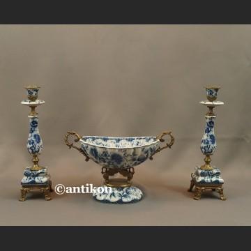 Patera wzór cebulowy porcelana z brązem