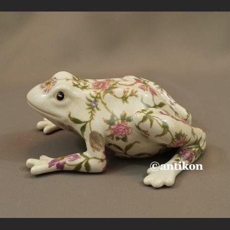 Żaba na szczęśćie duża porcelanowa