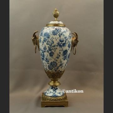 Wazon porcelanowy wzór cebulowy duża urna