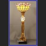 Lampa z figurą kobiety z alabastru