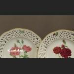 Kolekcjonerskie talerze cała seria róże kwiaty