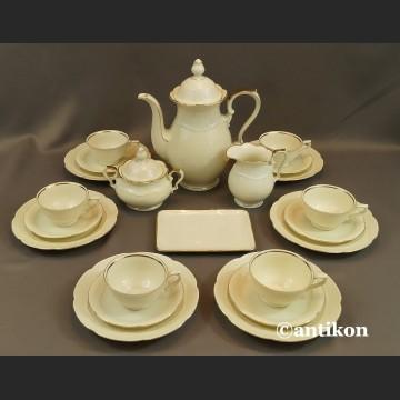 Serwis do herbaty kość słoniowa Bawaria