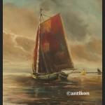 Obraz marynistyczny łodzie żaglowe duży obraz