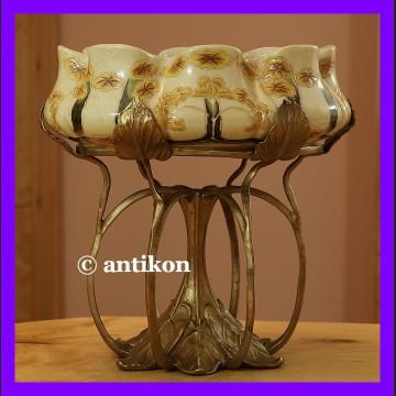 Patera porcelanowa w stylu secesji wyjątkowa