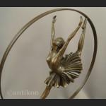 Rzeźba z brązu duże Art Deco tańcząca baletnica