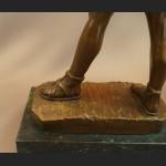 Rzeźba z brązu wielki Łucznik spartanin Leonidas
