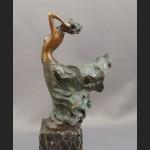 Rzeźba przepiękna kobieta brąz Francja