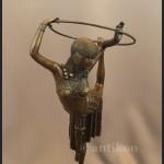 Posąg z brązu tancerka Art Deco francuska rzeźba