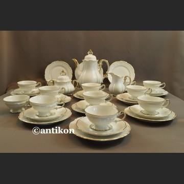 Serwis 12 osobowy Hertel Jacob kawowy z 1930r