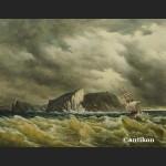 Obraz sztorm żaglowce na morzu