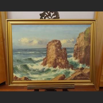 Obraz morski brzeg malarstwo marynistyczne