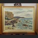 Morski brzeg obraz olejny piękne malarstwo marynistyczne