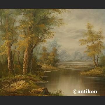 Pejzaż olejny Uroki natury duży obraz na płótnie
