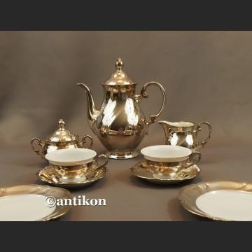 Dzbanek, cukiernica i mlecznik posrebrzny zestaw do kawy