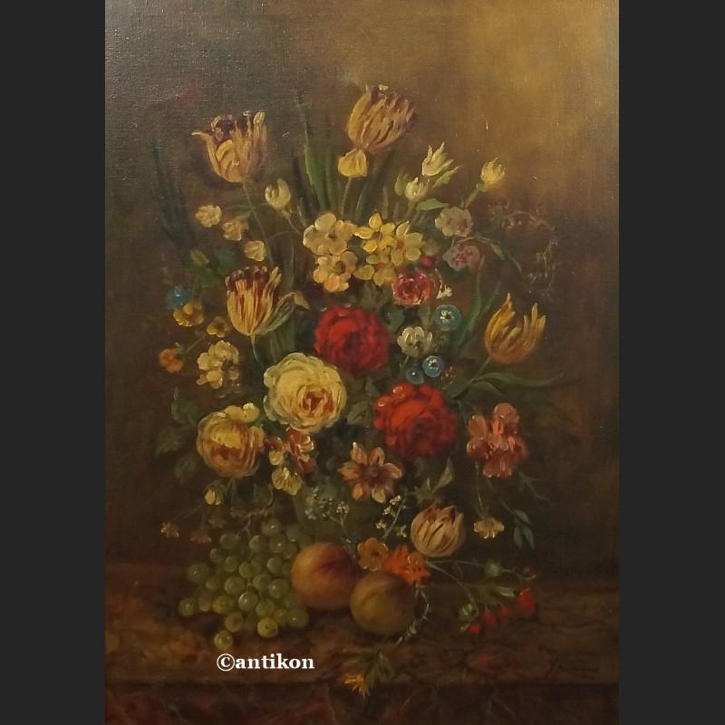 Nowoczesna architektura Obraz kwiaty piękne malarstwo martwa natura - Galeria Antikon BL35