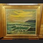 Obraz morze wzburzone piękne malarstwo
