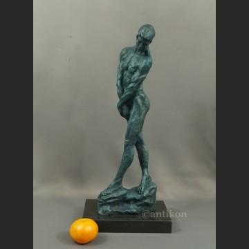 Rzeźba A. Rodin Adam piękny duży posąg z brązu