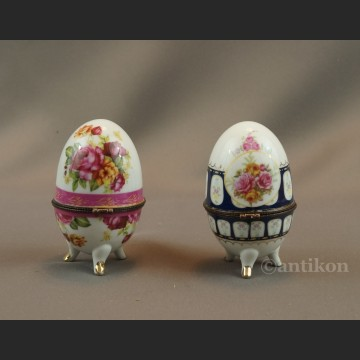 Jajo  porcelanowa szkatuła para