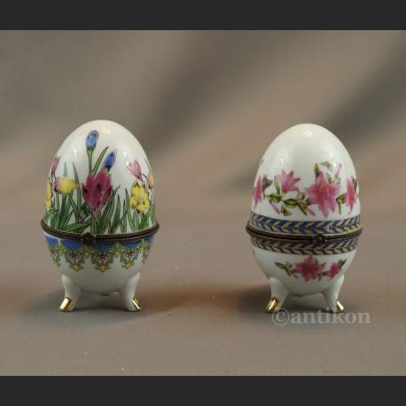 Jajo porcelanowe szkatuła 2 sztuki