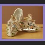 Porcelanowe pantofelki zachwycająca figurka z porcelany