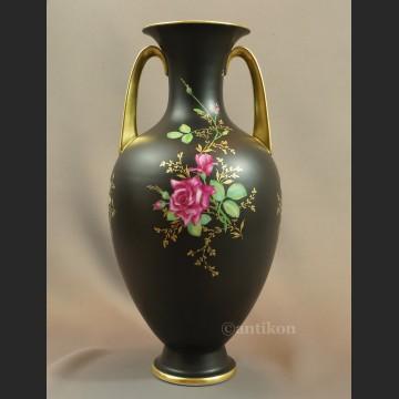 Wazon Rosenthal duży czarny z różą