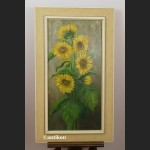 Słoneczniki obraz olejny w prostej ramie