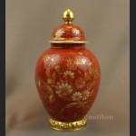 Wazon Rosenthal czerwona kula ręcznie malowana